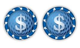 Metta due icone Immagini Stock Libere da Diritti