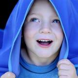 Metta in evidenza l'azzurro fotografia stock