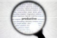 Metta a fuoco o concentri il concetto produttivo di affari Immagini Stock