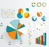 Metta gli elementi del infographics Fotografie Stock