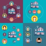 Metta gli elementi della casa astuta di infographics Fotografie Stock