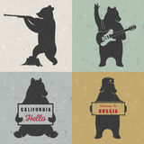 Metta gli orsi di divertimento del segno Immagini Stock