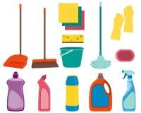 Metta gli strumenti per pulire Fotografia Stock