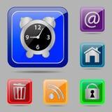 Metta i bottoni di web Fotografia Stock
