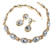 Metta i gioielli placcati oro Fotografia Stock