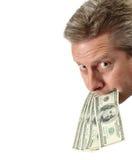 Metta i vostri soldi in cui la vostra bocca è Immagini Stock Libere da Diritti