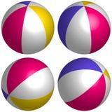 Metta il beach ball 3D isometrico Fotografie Stock Libere da Diritti