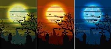 Metta il cimitero di buio di Halloween Fotografia Stock Libera da Diritti