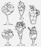 Metta il gelato - gelato isolato schizzato su fondo bianco illustrazione di stock
