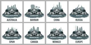 Metta il Gran Premio d'annata del manifesto Immagine Stock Libera da Diritti