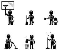 Metta il lavoratore più pulito Immagine Stock Libera da Diritti