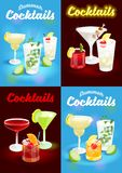 Metta il manifesto dei cocktail dell'estate illustrazione vettoriale