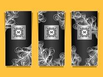 Metta il modello per il pacchetto da fondo di lusso fatto da stagnola in argento nero Immagini Stock
