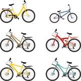 Metta il mountain bike Fotografia Stock Libera da Diritti