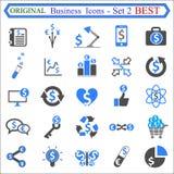 Metta il numero due delle icone di affari - vettore di riserva royalty illustrazione gratis