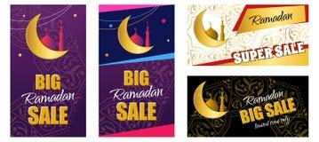 Metta l'aletta di filatoio - Ramadan Big Sale Insegna di web di progettazione con la bella c Fotografia Stock Libera da Diritti