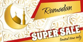 Metta l'aletta di filatoio - Ramadan Big Sale Insegna di web di progettazione con la bella c Fotografie Stock