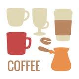 Metta l'icona del caffè Illustrazione piana di vettore Per il web, grafici di informazioni, manifesto Fotografia Stock Libera da Diritti