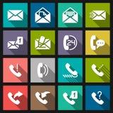 Metta l'icona del telefono Fotografia Stock