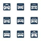 Metta l'icona dell'automobile Immagini Stock Libere da Diritti
