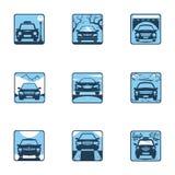 Metta l'icona dell'automobile Fotografia Stock Libera da Diritti