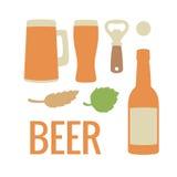Metta l'icona della birra Illustrazione piana di vettore Per il web, grafici di informazioni Immagine Stock