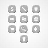 Metta l'icona di web di affari Fotografie Stock Libere da Diritti
