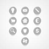 Metta l'icona di web di affari Immagini Stock