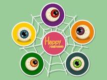 Metta l'icona Halloween sul fondo di colore Halloween felice Regalo Fotografie Stock