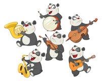 Metta l'illustrazione del fumetto Panda Bear sveglio per voi progettazione Fotografia Stock