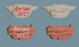 Metta l'illustrazione di vettore del bordo di legno fumetto Immagine Stock