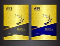Metta l'illustrazione di vettore di progettazione della copertura dell'oro illustrazione di stock