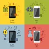 Metta l'illustrazione - la tecnologia mobile Fotografia Stock