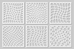Metta l'ornamento geometrico del modello Carta per il taglio del laser Progettazione decorativa dell'elemento Immagine Stock