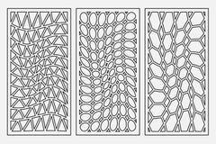 Metta l'ornamento geometrico del modello Carta per il taglio del laser Progettazione decorativa dell'elemento Reticolo geometrico Fotografia Stock