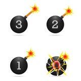Metta la bomba degli emoticon Immagine Stock Libera da Diritti