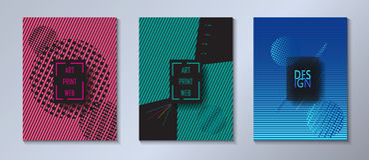 Metta la disposizione dinamica delle coperture dell'opuscolo dei pantaloni a vita bassa illustrazione vettoriale