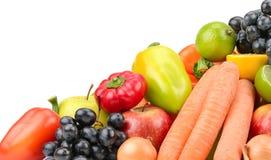 Metta la frutta e le verdure Fotografia Stock Libera da Diritti