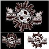 Metta la lega di calcio di logo Fotografia Stock