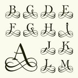 Metta la lettera maiuscola per i monogrammi ed il logos Fotografie Stock