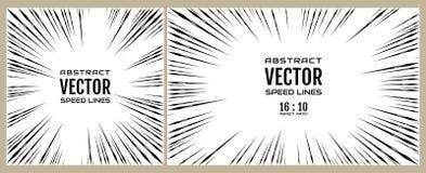 Metta la linea della velocità su fondo bianco Illustrazione festiva con l'esplosione di potere di effetto Elemento del disegno Ve Immagini Stock Libere da Diritti