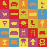 Metta la mobilia Interni domestici Attrezzatura della Camera Fotografia Stock