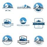 Metta la montagna di logo Immagini Stock