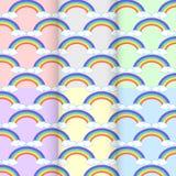 Metta la nuvola dell'arcobaleno Estratto senza cuciture del modello sul colo del fondo Fotografia Stock Libera da Diritti