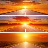 Metta la o le tre strade dell'estate per le insegne Fotografie Stock