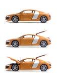 Metta le automobili Audi R8 Fotografia Stock Libera da Diritti