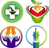 Metta le collezioni di logo illustrazione vettoriale
