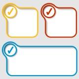 Metta le cornici di testo di vettore con la casella di controllo illustrazione vettoriale