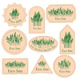 Metta le etichette con la linea di eco Fotografia Stock