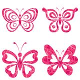 Metta le farfalle con il modello Fotografia Stock